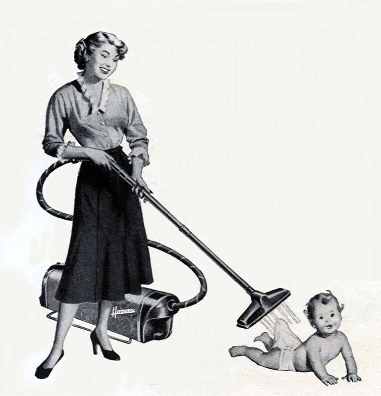Vintage advertisement of woman and a baby