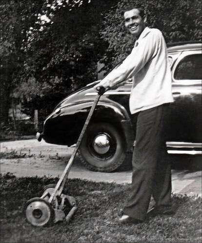 mowing with a reel mower