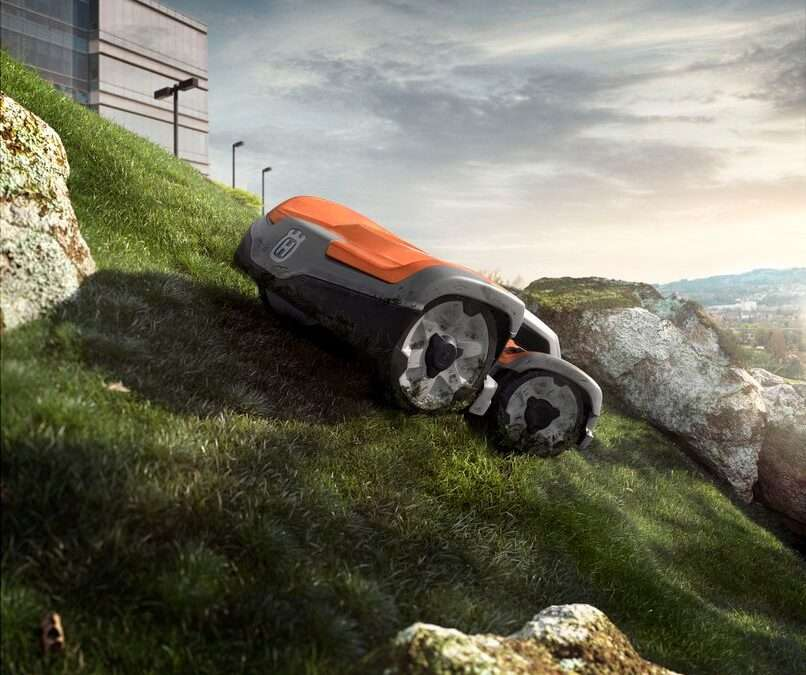 Sticks & stones may break my robot: can robotic mowers deal with uneven terrain?