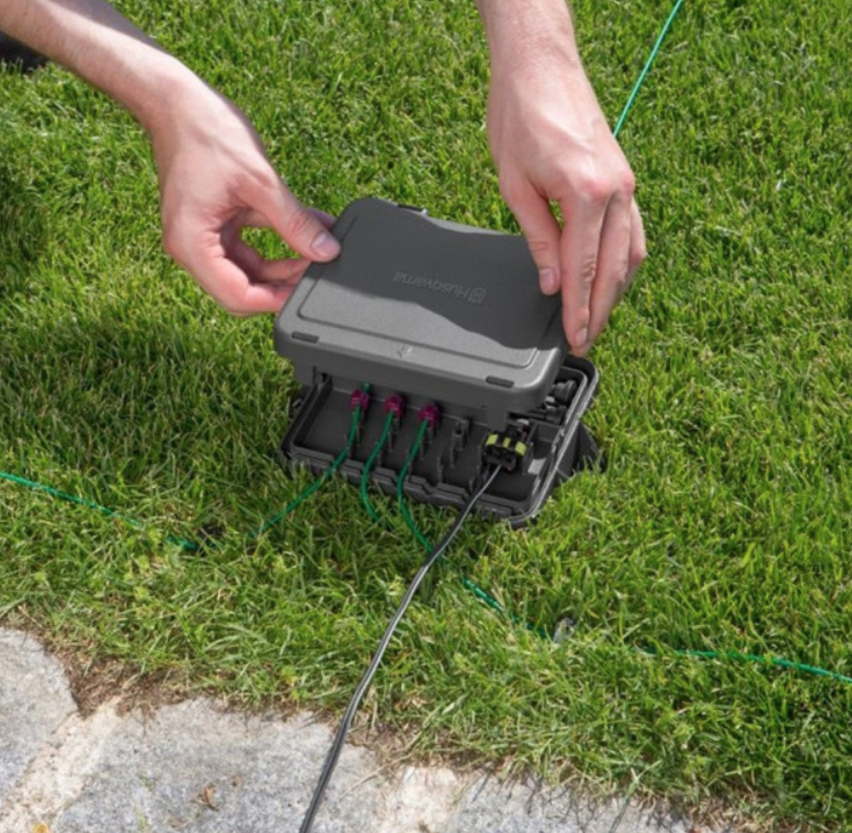wire protection for robotic lawn mowers