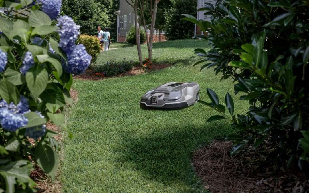 Autmow robotic lawn mower on the grass.